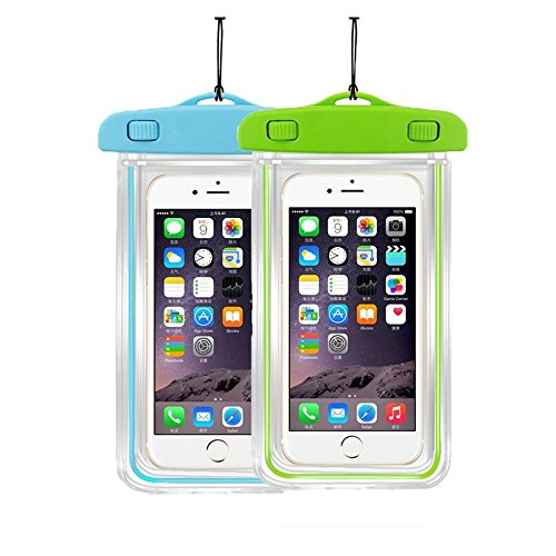 """[2Pack]Waterproof Case Universal CellPhone Dry Bag Pouch CaseHQ for Apple iPhone 8,8plus,7,7plus 6S, 6, 6S Plus, SE, 5S, Samsung Galaxy s8,8Plus,S7, S6 Note 7 5, HTC LG Motorola up to 5.8"""" diagonal"""