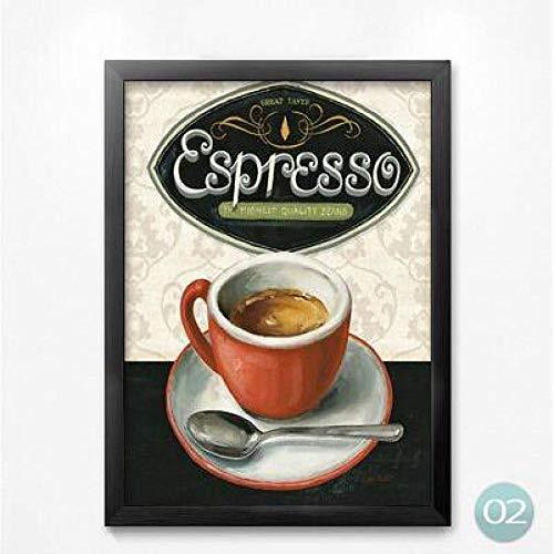 zxddzl Bar küche dekor Poster Kochen Nudeln Kaffee Essen leinwand malerei HD druckwand Wohnzimmer malerei