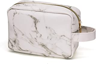 HOYOFO Marble Travel Toiletry Bag Portable Cosmetic Organizer Makeup Storage Bags for Men and Women