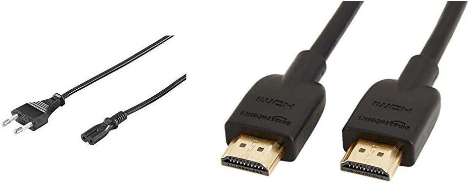 Goobay 95038 - Cable de alimentación 3 m, Negro