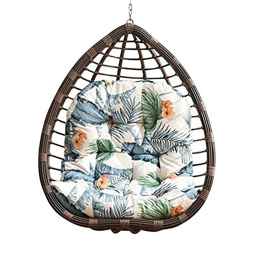 Cojín de asiento para silla de huevo, extraíble y lavable, hamaca de ratán, cojín de columpio para silla de nido de columpio, para interiores y exteriores