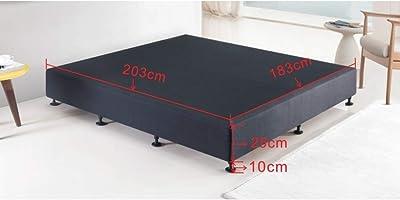 Palermo King Ensemble Frame Bed Base - Linen Fabric - Midnight Black - Premium Linen Fabric Upholstered Bed Base