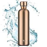MATE OF STEEL® Premium 0.75L Edelstahl Flasche Kompatibel mit Sodastream Crystal & Easy – Kohlensäure geeignet   750ml Trinkflasche aus Metall   Soda Flaschen   Ersatzflaschen