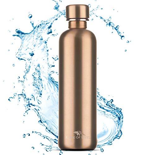 MATE OF STEEL 0.75L Edelstahl Flasche Kompatibel mit Sodastream Crystal & Easy – Kohlensäure geeignet | 750ml Trinkflasche aus Metall | Soda Flaschen | Ersatzflaschen