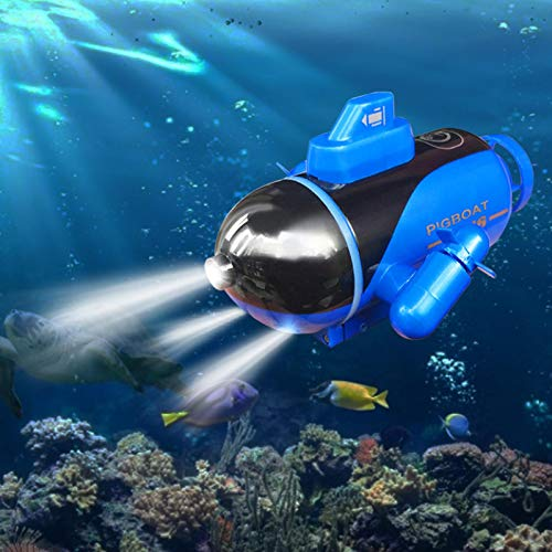 4 inch Mini RC Submarine Boat,Glowing Submarine Boat,Electric Ship Toy,Remote Control Electric Submarine Boat for Pools,Bathtubs,Fish Tanks