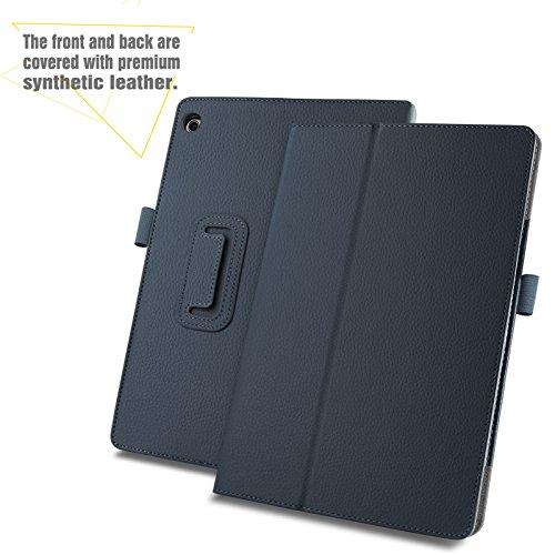 INFILAND Huawei MediaPad M3 Lite 10 Hülle Case, Slim Fit Folio PU-lederne dünne Kunstleder Schutzhülle Cover Tasche für Huawei MediaPad M3 Lite 10(mit Auto Schlaf/Wach Funktion)(Dunkleblau) - 3
