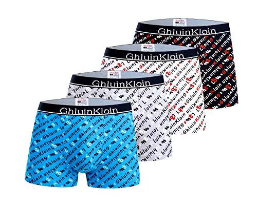 Ghluin Kloin Jungen Baumwolle Boxer Slips Unterwäsche 2-12 Jahre Unterhose 4er Pack Mehrfarbiges Set Italienisches Design Ultra Soft (5004, 6-8 Years)