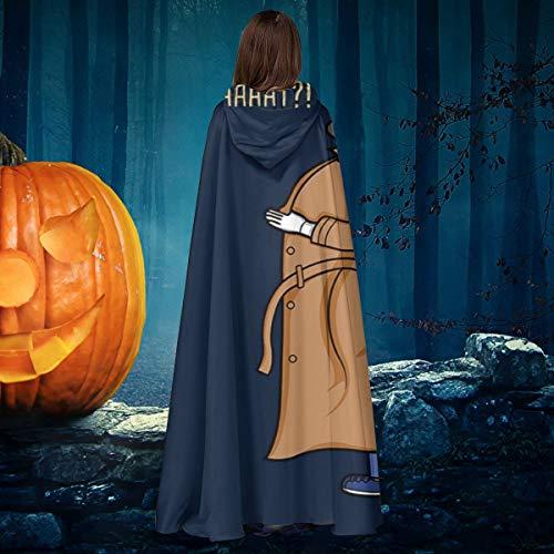 AISFGBJ Trench Coat Bojack Horseman Unisex Navidad Halloween Bruja Caballero con Capucha Albornoz Vampiros Capa Cosplay Disfraz