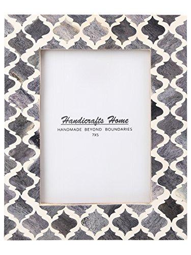 Handicrafts Home Cadres Photo modèle marocain Maure inspiré des incrustations osseuses Faites Main Cadres Photo conçus pour Afficher des Images de 4x6 et 5x7 Pouces Photos