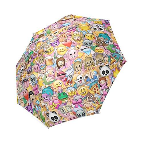 Aangepaste Emoji 8 Ribs Vouwen Waterdichte Paraplu's
