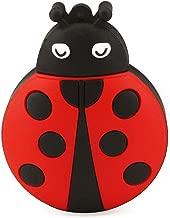 CHUYI Novelty Ladybug Shape Design 128GB USB 2.0 Flash Drive Cute Memory Stick Thumb Drive Data Storage Pendrive Cartoon Jump Drive U Disk Gift