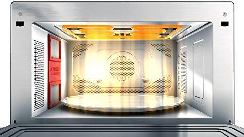 Whirlpool MWP 3391 SB Forno a Microonde Supreme Chef termoventilato combinato, 33 litri, Nero e Argento con griglia alta, griglia bassa, Double Steam, piatto Crisp + maniglia