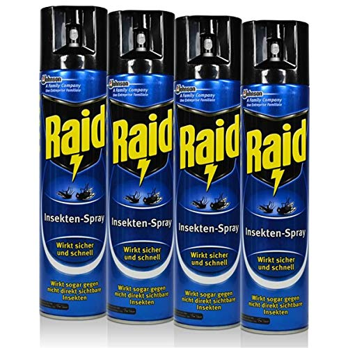 4x Raid Insekten-Spray 400 ml - Wirkt...