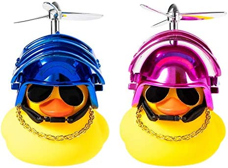 Kaqkiasiog 2 Pcs Rubber Duck Toy Car Ornaments Yellow Duck Car Dashboard Decorations with Take product image