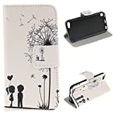 EMAXELERS iPod Touch 5 Rote Feder PU Leder Wallet Case