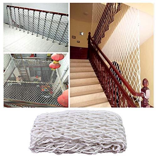 Hwt Tarnnetz Treppe Kinder Schutznetz Ladung Balkon Katzen Sicherheitsnetze, Seil Leiter Anhängernetz Weiß Nylon Netz Geländer Schutz Zaun Spielplatz Dekoration Mesh (Size : 2x3m)