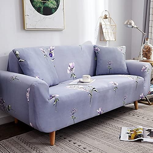 Toalla de sofá con Funda geométrica Rosa elástica Flexible, Funda de sofá Envuelta con Todo Incluido para sillón de sofá de Diferentes Formas A11 de 3 plazas