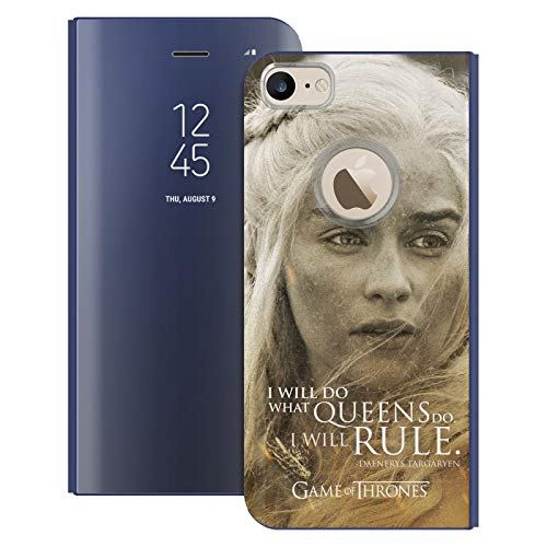 Head Case Designs Offizielle HBO Game of Thrones Daenerys Targaryen Character Portraits Blaue Spiegel Huelle mit Klappstand kompatibel mit Apple iPhone 7 / iPhone 8 / iPhone SE 2020