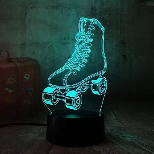 3D illusie skateboard-nachtlampje 7 soorten decoratieve lichten met kleurverandering riem cadeau voor kinderen