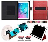 reboon Hülle für Huawei MediaPad T2 10.0 Pro Tasche Cover Case Bumper | in Rot Leder | Testsieger