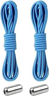 Guangcailun Fibbia elastica Lacci Tipo Lacci di blocco di metallo delle scarpe da tennis Laces, Light Blue
