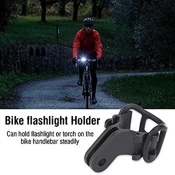 Support de Lampe de Poche de Vélo, Support de Fixation de Torche de Guidon de Vélo Stable Universel Clip de Lumière Accessoire de Vélo pour Un Diamètre de Lampe de Poche Inférieur à 40 mm (Noir)