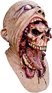bromrefulgenc Halloween Mask,Scary Mask Cosplay,Latex Melting Bloody Zombie Mask Scary Cosplay Costume Prop for Halloween Masquerade Party Beige