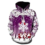 Mr.BaoLong&Miss.GO Otoño E Invierno Suéter Estampado Navideño para Hombres Chaqueta Navideña Suéter Camiseta De Manga Larga De Papá Noel Sudadera
