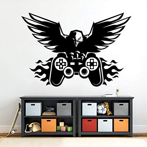 Tianpengyuanshuai Eagle Wall Game Controller Wandaufkleber Vinyl Aufkleber Haushalt Wandaufkleber 50X33cm