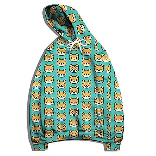SSBZYES Suéter con Capucha para Hombre, Chaqueta De Suéter De Gran Tamaño para Hombre, Camiseta De Pareja con Estampado De Perro a La Moda, Camiseta Informal De Manga Larga