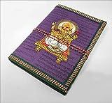 India Colors Regalo Agenda Album Fotos Diario Bloc Cuaderno Viajes Libro visitas. Modelo Mediano. Hecho a Mano en India. Papel Artesanal algodón (Violeta)