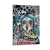 JTYK Buenos Aires Street Art Kunstdruck auf Leinwand,