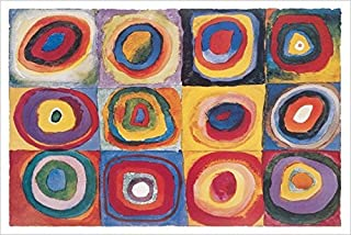 Buyartforless Color Study Squares (Farbestudie Quadrate) by Wassily Kandinsky 36x24 Art Print Poster Abstract