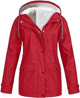 Sturrly🌻Womens Hooded Jacket Plus Size, Lightweight Waterproof Hooded Raincoat Active Outdoor Rain Jacket Windbreaker