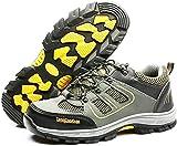 LBHH Zapatos de Trabajo Botas de Seguridad Calzado de Seguridad de montañismo,Transpirable,Desodorante,Calzado de Hombre Ligero,Superficie de Malla,Calzado de Seguridad Transpirable