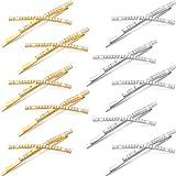 10 Pieces X Shaped Hair Pins Rhinestone Hair Barrette Cute Metal Shiny...