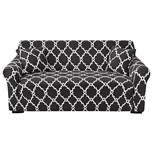 Funda de sofá elástica elástica para el hogar, Funda de sofá en Forma de L de tamaño estándar, Funda de protección para Muebles de Sala de Estar, A4, 2 plazas