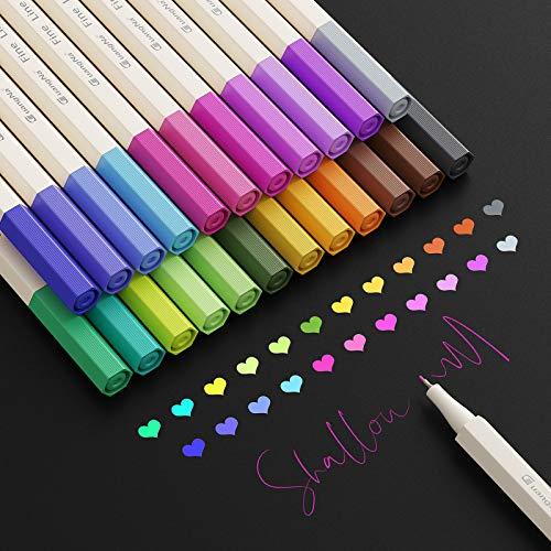 Filzstifte,Baozun 24 Farben Fineliner Stifte Pigment Liner Set Feine Filzstifte 0.38mm Spitze, Ideal für Kalligraphie, zum Präzisionszeichnen, Schreiben, Malen für Erwachsene, Comics, Mang