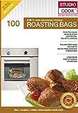 Studio Cook 100 bolsas de asado 3 en 1, para asar, cocinar al vapor y almacenar, contenido 100 unidades, tamaño mediano 25 x 38 cm, hasta máx. 2,5 kg apto para microondas.