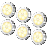 AMIR Motion Sensor Light, Cordless Battery-Powered LED Night Light, Stick-anywhere Closet Lights Stair