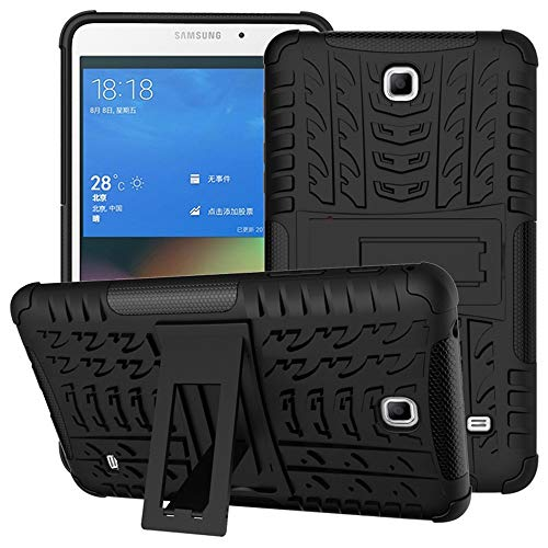 DETUOSI Samsung Tab 4 7 inch Case, High Impact Resistant Heavy Duty Armor Defender [Shock-Absorption] Cover Case with Kickstand Feature for Samsung Galaxy Tab 4 7.0inch 2014 (SM-T230 T231 T235) #Black