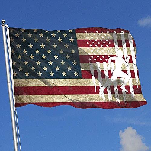 ALLdelete# Flags Running Sprinter Bandiera Americana Paese Banner Bandiera Gioco Bandiera Giardino Casa Bandiera 3 X5 Piedi Bandiera casa