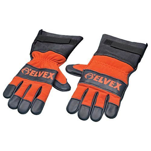 Elvex CSGLV-LG Prolar Chainsaw Gloves - Large, Orange/Black