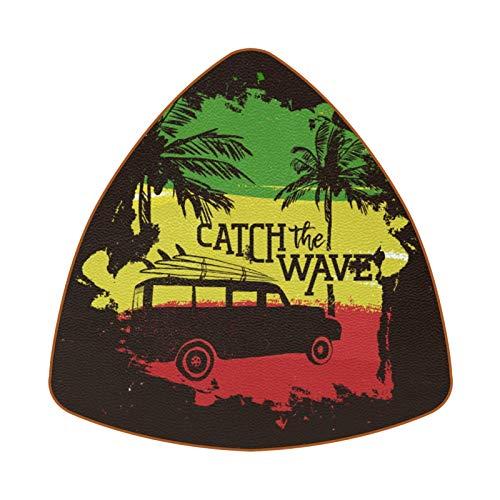 Bennigiry Posavasos resistentes al calor para coche y tablas de surf, para café, té, juego de 6