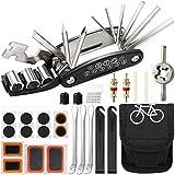 ECHG Kit de Herramientas para Bicicleta,16 en 1 Reparación de Pinchazos Bicicleta,Herramienta de Reparación Multifunción para Bicicleta,con Kit de Parche y palancas para neumáticos