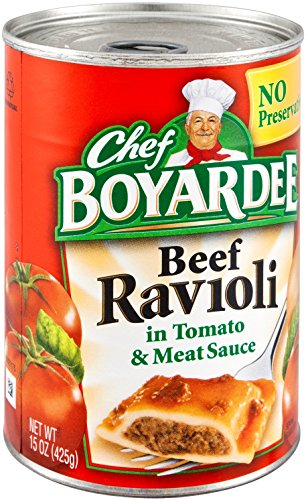 Chef Boyardee Beef Ravioli, 15 oz Can (Pack of 16)
