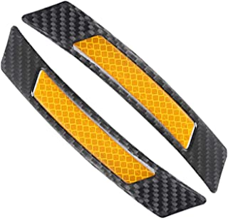 idain 2PCS Reflective Tape Caution Warning Safety Reflector Strips Sticker Waterproof 3D Reflective Car Decals,Black+Orange