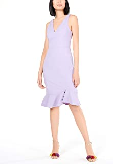 Women's Plus Size Scuba Crepe Dress with Ruffled Hem