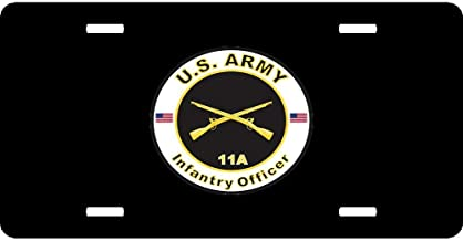 JSCustomKing Cool License Plate Cover for US Army/US Navy/US Air Force, License Plate Frame Cover, 12
