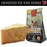 parmigiano reggiano dop vacche rosse, stagionato 24/30 mesi, 1 kg - senza lattosio prodotto direttamente dal caseificio del consorzio vacche rosse (etichetta rossa)
